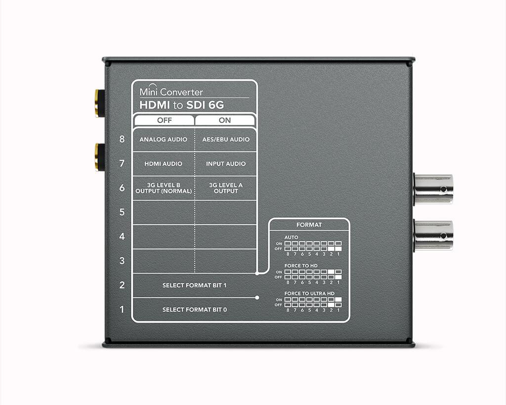 Mini Converter HDMI to SDI 6G Rear